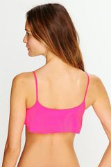 Free People Solid Sophia Top in Pink (neon pink) - Lyst