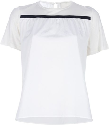 Girl. By Band Of Outsiders Short Sleeve Top in White - Lyst