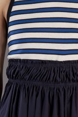 Hache Stripe Top Dress in Blue (navy) - Lyst