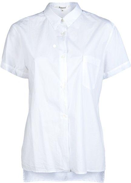 Women'S White Short Sleeve Blouse 20