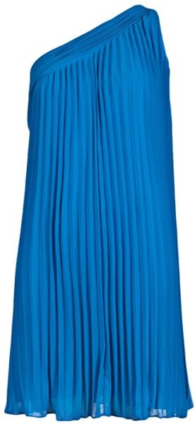 Halston Heritage One Shoulder Dress - Lyst