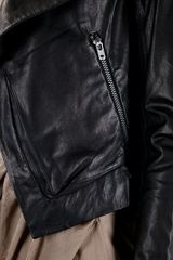 Helmut Lang Cropped Jacket in Black - Lyst