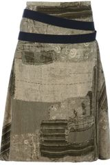 Jean Paul Gaultier Patchwork Skirt - Lyst