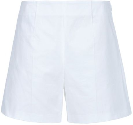 Jil Sander High Waisted Short in White - Lyst