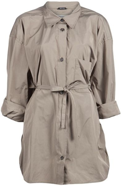 Maison Martin Margiela Button Up Tie Jacket in Brown (khaki) - Lyst