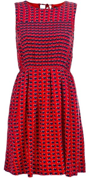 Marc By Marc Jacobs Heart Print Dress in Red - Lyst