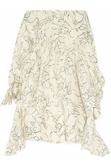 Marni Asymmetric Printed Silk Skirt - Lyst
