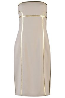 Michael Kors Strapless Dress - Lyst