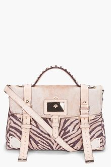 Mulberry Buff Leather Zebra Print Travel Bag - Lyst