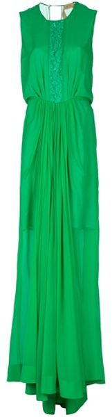 N°21 Sleeveless Evening Gown in Green - Lyst