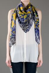 Peter Pilotto Tiger Scarf in Multicolor (tiger) - Lyst