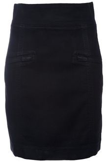 Pierre Balmain Denim Skirt - Lyst