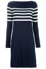 Ralph Lauren Blue Label Striped Dress - Lyst