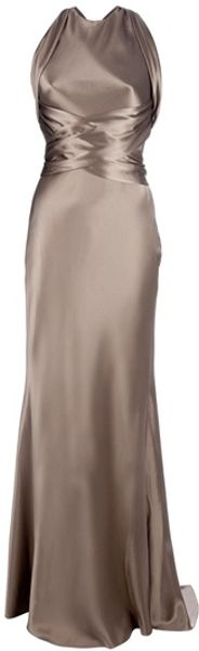 Ralph Lauren Theodora Gown in Brown - Lyst