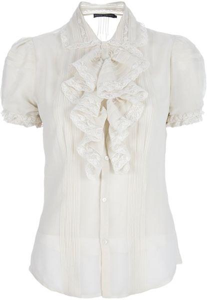White Ruffle Blouse Macy'S 18