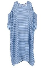 Richard Nicoll Striped Dress in Blue - Lyst