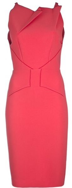 Roland Mouret Sleeveless Fold Detail Dress - Lyst