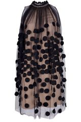 Stella McCartney Dotted Gauze Dress - Lyst
