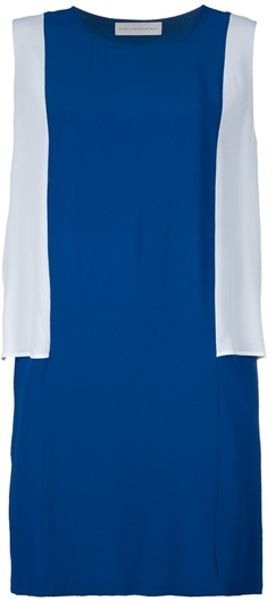 Stella Mccartney Diane Two Tone Dress in Blue - Lyst