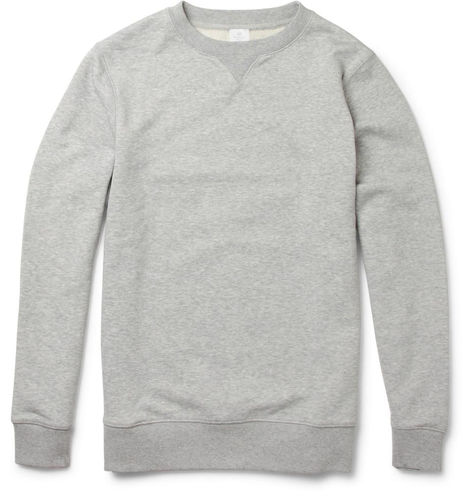 Sunspel Classic Crew Neck Sweatshirt in Gray for Men | Lyst