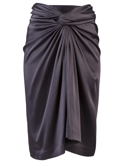The Row Franken Sarong Skirt In Gray Lyst