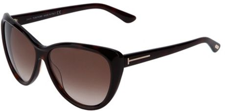 Tom Ford Round Frame Sunglasses in Brown - Lyst