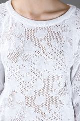 Vanessa Bruno Athé Open Knit Jumper in White - Lyst