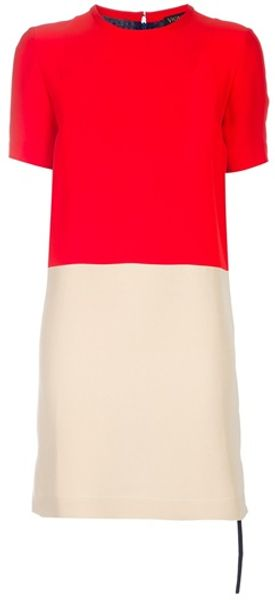 Vionnet Colour Block Dress in Multicolor - Lyst