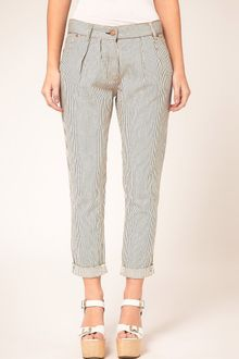 Washborn Washborn Fine Striped Trousers - Lyst