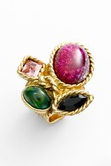 Saint Laurent Arty Color Cluster Ring - Lyst