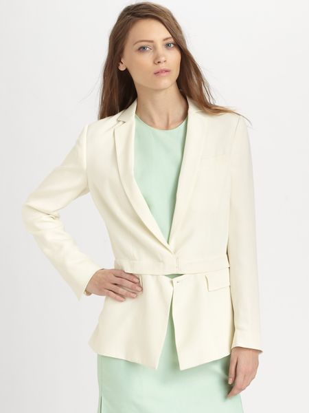 3.1 Phillip Lim Convertible Silk Blazer in White (antique) - Lyst