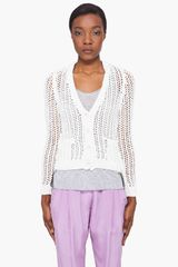 3.1 Phillip Lim Antique White Hand Knit Cardigan - Lyst