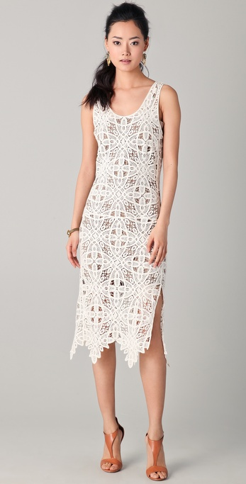 Addison Crochet Lace Dress In White Lyst