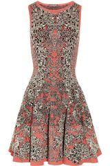Alexander McQueen Flared Barnacle Intarsia Dress
