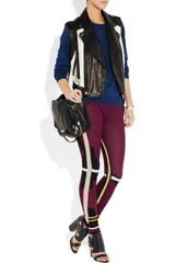 Alexander Wang Knitted Paneled Leggingsstyle Pants in Brown (berry) - Lyst