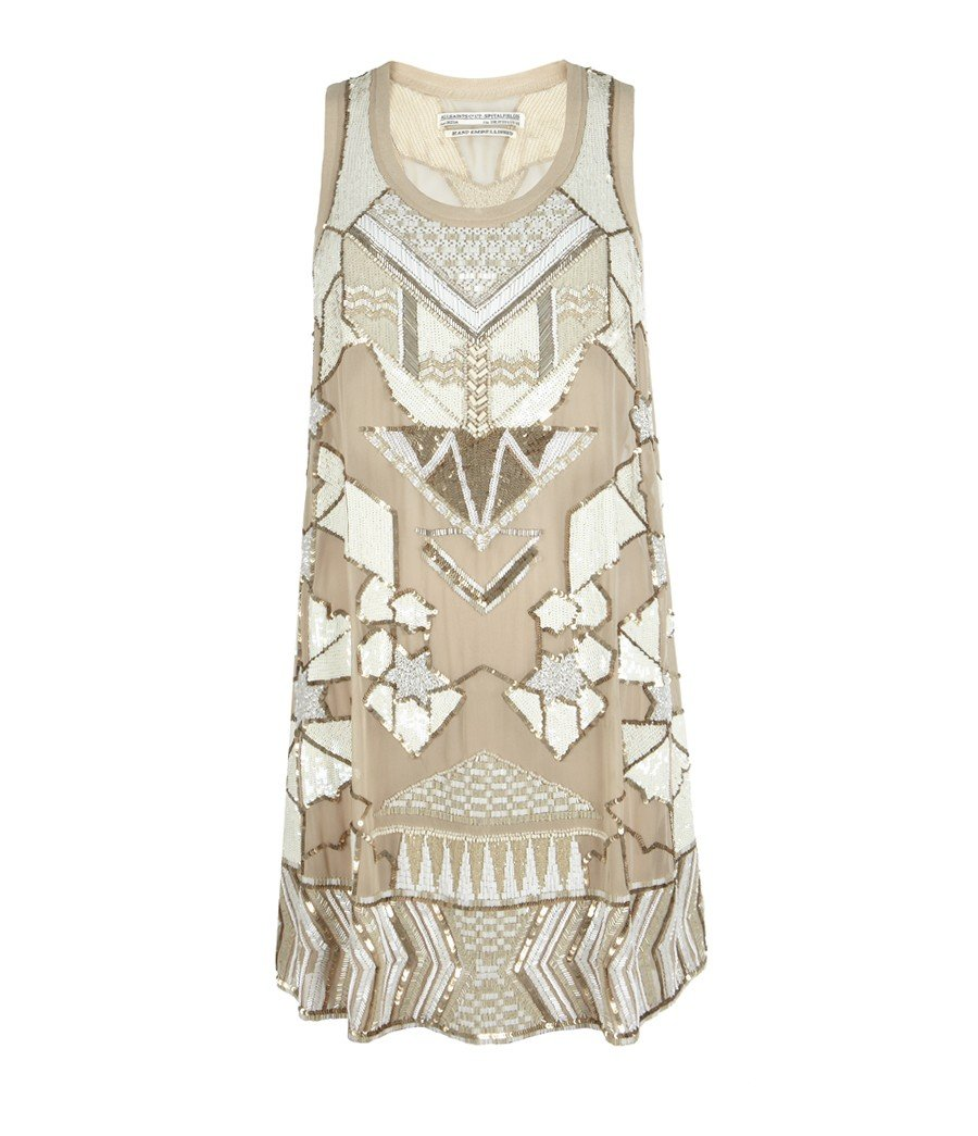 Allsaints Newaz Mini Dress in White | Lyst