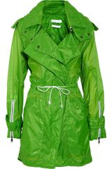 Altuzarra Walnut Hooded Sheer Parka in Green (walnut) - Lyst