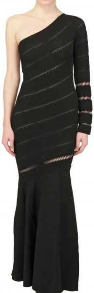 Antonio Berardi Ajour On Milano Stitch Dress - Lyst
