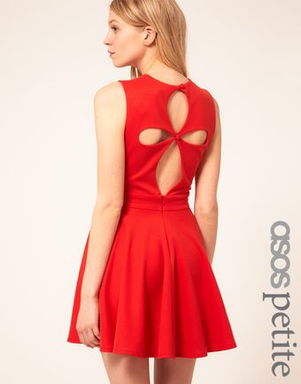 ASOS Collection Asos Petite Exclusive Skater Dress with Cut Out Back Detail - Lyst