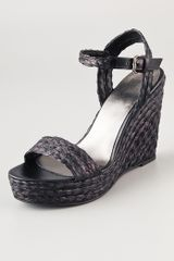 Belle By Sigerson Morrison Lucia Raffia Wedge Sandals - Lyst