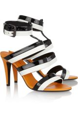 Bottega Veneta Threetone Leather Sandals in Black (white) - Lyst