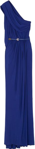 Elie Saab 1 Shoulder Long Dress 35 in Blue - Lyst