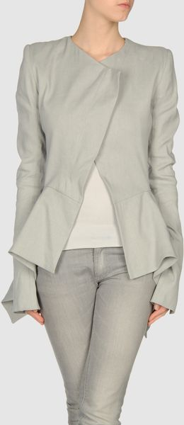 Gareth Pugh Blazer in Gray (grey) - Lyst