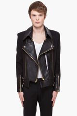 Juun.j Leather Trimmed Biker Jacket - Lyst