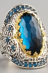 Konstantino London Blue Topaz Ring in Blue (7) - Lyst