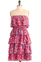 ModCloth Near and Tier Dress - Lyst