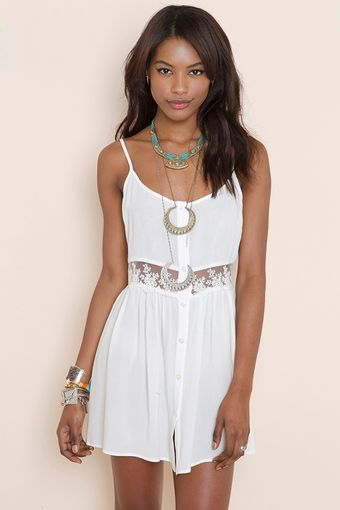 Nasty Gal Field Day Dress Ivory - Lyst