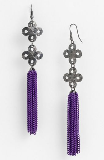 Natasha Couture Tassel Earrings - Lyst