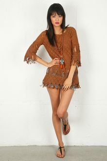 Nightcap Clothing Tribal Fringe Tunic - Lyst