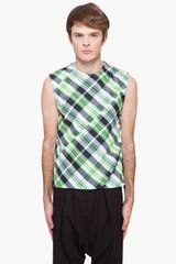 Raf Simons  Check Tank Top - Lyst